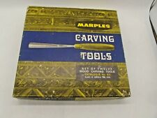 More details for vintage wood carving set. marples carving tools in box, twelve tools