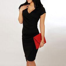 Evening Womens Short V-neck Dresses Slim Bodycon Party Dress Vestidos