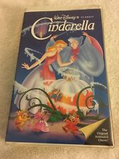 Walt Disney Cinderella VHS Black Diamond Classic Clamshell Case