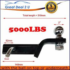 "50mm TOWBAR TONGUE TOW BALL MOUNT HITCH PIN & BALL For HAYMAN REESE 2""Inch DROP"