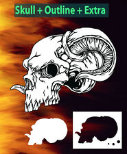 Mini Skull 12 Special Two Layer Airbrush Stencil Spray Vision Template air brush