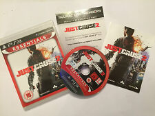 SONY PS3 PLAYSTATION 3 GAME JUST CAUSE 2 +BOX +INSTRUCTIONS COMPLETE PAL TESTED
