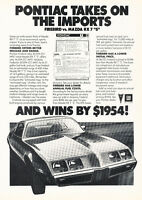 1980 Pontiac Firebird - Original Car Advertisement Print Ad J246