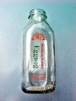 Eggnog Bottle Morning Fresh Dairy Farm Glass BOTTLE Bellvue CO. Premium Holiday