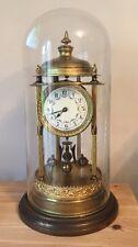 Grande Antiguo Alemán 400 día aniversario Reloj de cúpula de vidrio principios de 1900