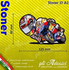Adhésif Motorrad Casey Stoner 27 caricature stickers carénage casque 12 x 8 cm