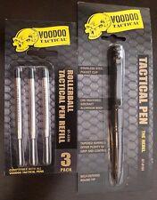 Voodoo Rebel Tactical Tool Pen Gray Self Defense with 3 Replaceable Cartridges
