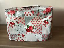 Sewing Machine Cover with Hole for Handle- Rose Garden