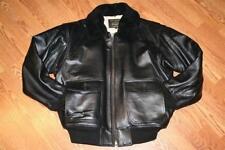 Schott NYC G1 - Lambskins Leather W/removablesheepskin Collar Jacket Black- 3xl