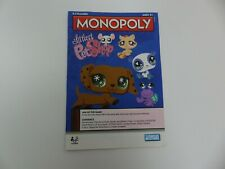 Littlest Pet Shop Monopoly Board Game 2008 Replacement Pieces Parts DIRECTIONS