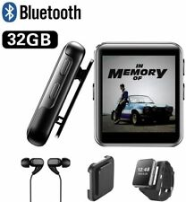 Donest 32GB MP3 Clip Touch Screen Player Music Lossless Sport Watch Headphone