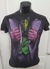 The Dark Knight Movie Joker Tie Gloves Jacket Black T Shirt Small One Sided Rare