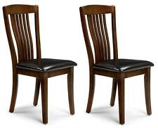 2x Julian Bowen Canterbury Rubberwood Mahogany Dining Chair