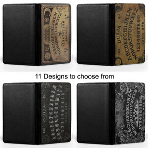 Ouija Board Gothic Emo Passport Holder Faux Leather Cover Case