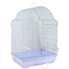 Metal Bird Cage For Small Birds Budgie Canary Finch Cockatiel Aviary Tray Perch