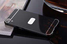 Luxury Slim Aluminum Metal Bumper + PC Mirror Back Case Cover For HTC Phone S001