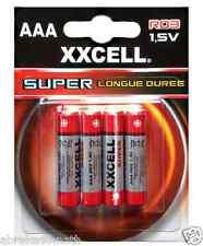 1 LOT DE 4 PILES AAA 1.5V LR03 XXCELL SUPER LONGUE DUREE
