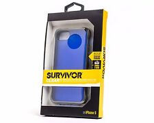 NEW!! GRIFFIN SURVIVOR CLEAR PROTECTIVE CASE IPHONE 5 5S BLUE 100% AUTHENTIC OEM