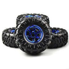 4X 130mm Rubber Tire&Wheel 01B 12mm Hex For RC 1:10 Bigfoot Monster Truck Car