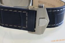 20mm Royal Blue Band Strap Alligator-Style with Deployment Clasp for TAG Heuer
