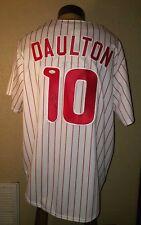 NEW Majestic MLB Philadelphia Phillies #10 Daulton Autograph Authentic Jersey XL