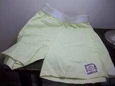 NWT VINTAGE 80s RETRO YELLOW HIGH WAISTED COTTON SHORTS MEDIUM FASHION EXPLOSION
