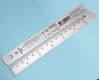 Ruler Aluminum Measure 6 Inch School Tape Metric Rule Sewing DIY Straight New