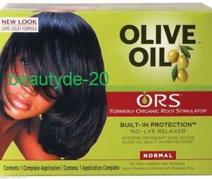 ORS Organic Root Stimulator Olive Oil Hair Relaxer Kit-NORMAL-Free UK Post!!