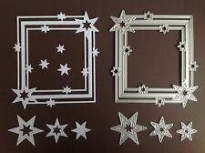 4 Framelit NEU *Sterne Rahmen* Stern Quadrat Stickrand + Stampin Up Zugabe