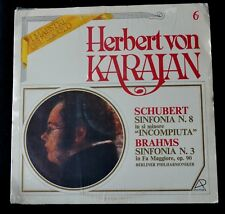 HERBERT VON KARAJAN-SCHUBERT / BRAHMS SINFONIAS-CLASSICAL-1981-ITALY-SEALED LP