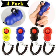 4 Pack Pet Dog Training Clicker Cat Puppy Trainer Obedience Aid Teaching Tool