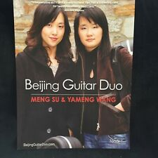 Beijing Guitar Duo - Advertising Flyer - Tonar Music & Amg