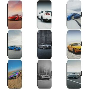SUPER CAR SPORT CAR CARS RACING WALLET FLIP PHONE CASE COVER FOR HUAWEI MODELS