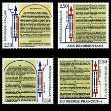 STAMP / TIMBRE FRANCE NEUF N° 2602/2605 ** DECLARATION DES DROITS DE L'HOMME