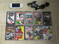 Sony PSP Weiß mit 10 Gratis Spiele + Zubehörpaket (3004)