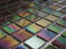 Glasmosaik Fliesen Mosaik PERLMUTT rainbow schwarz grün blau schimmernd pool bad