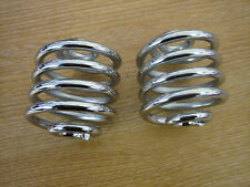 """Solo Seat Springs 2"""" Chrome. Cycle Haven  Harley Bobber Custom 0010"""