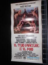 ★ Manifesto TUO PIACERE E IL MIO MY PLEASURE KOSCINA Locandina Poster Playbill ★