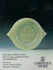 CHRISTIE'S Chinese WOA Jade Jadeite Jewellery Snuff Bottles Auction Catalog 1992