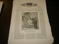 1875 ANTOLOGIA ILLUSTR ROMA S.GREGORIO IX BASILICA VATICANA S.TOMMASO D'AQUINO