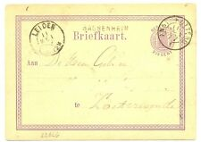 NEDERLAND 1877  BRIEFKAART  - LANGST = SASSENHEIM  = FRAAI