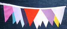 Multi Coloured Fabric Bunting Party Wedding Decoration 3 mt lengths or more