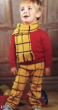 Ck15 - Knitting Pattern - Rupert Bear Children's Outfit - Jumper, Pants & Scarf