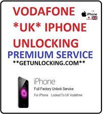IPHONE * UK * VODAFONE ANY MODEL  PREMIUM / BARRED SERVICE FAST UNLOCKING
