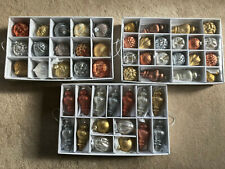 Martha Stewart Living Holiday Shimmer Glass Ornament Set (50-Count)