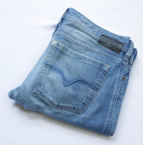 Diesel Zathan Regular Bootcut Jeans men size W34 L34 L Large blue BUTTON Fly