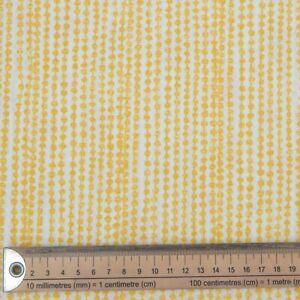 GOLD SPOTS DOTS FABRIC  REMNANT 49 cms x 136cms  POLY COTTON PATCHWORK CRAFTS