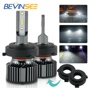 BEVINSEE For Hyundai Kona 2018-2020 H7 LED Headlight Bulbs Low Beam Kit 10000LM