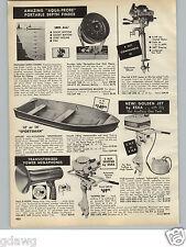 1966 PAPER AD 4 HP Commando VI Outboard Motor Eska Golden Jet Skipper