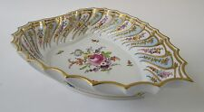 "Antique Sevres France Porcelain ""HEART"" Floral Decorative Dish 9 1/2"""